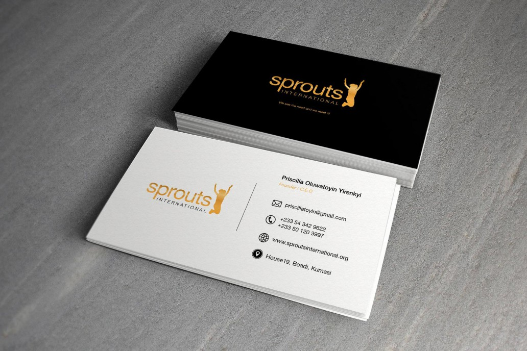 Sprouts International Branded Business Cards